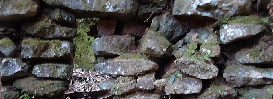 一枚岩 炭焼き釜